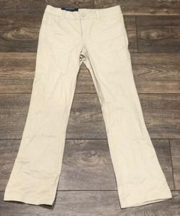 Nautica School Uniform Girls Pants Khaki Size 10 Adjustable