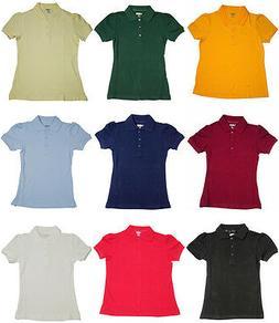 French Toast School Uniform Girls Short Sleeve Stretch Pique