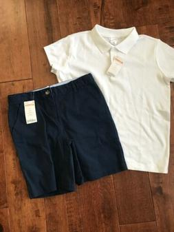 School Uniform Navy Shorts White Top Gymboree Girls Size 10