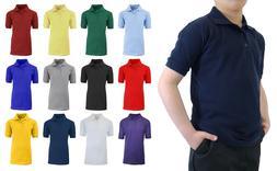 School Uniform Polo for Boys Choose Shirts Color - Sizes 4-2