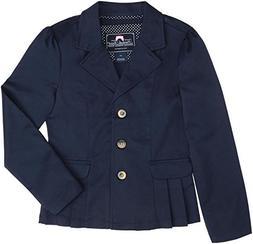 French Toast School Uniform Girls Twill Blazer, Navy, 4