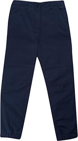 French Toast School Uniform Boys Woven Jogger Pants, Navy, 5