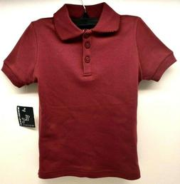 French Toast School Uniforms Girls T-Shirt Burgundy Sz 4 FRE