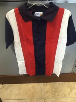 Ibiley School Uniforms Polo Shirt Vertical Stripes. Size 16/