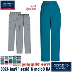 Cherokee Scrubs ORIGINAL Medical Uniform Pull on Cargo Pant_