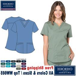 Cherokee Scrubs PROFESSIONAL Women's New Medical Fashion V-N