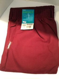 Landau Scrub Pants XL Burgundy Elastic Waist Eased Fit NWT M