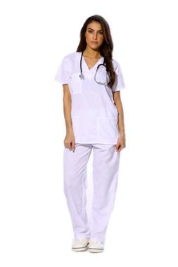 Just Love Women's White Scrub Set - Small,White,Small