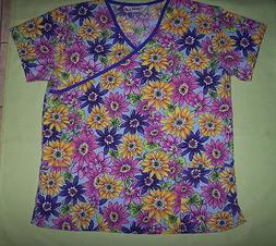 """Just Love"" Scrub Shirt Top Nurse Nursing Medical Uniform M"