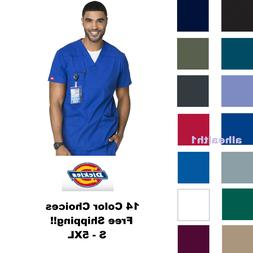 Dickies Scrub Top 81906 Mens EDS V-Neck Scrub Top Medical S
