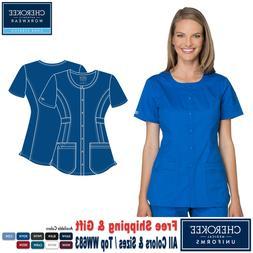 Cherokee Scrubs CORE STRETCH Women's Uniform Round Neck Top