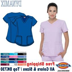 Dickies Scrubs DYNAMIX Women's Medical Uniform V-Neck Top DK