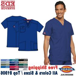Dickies Scrubs EDS SIGNATURE Men's Medical 4 Pocket V-Neck T