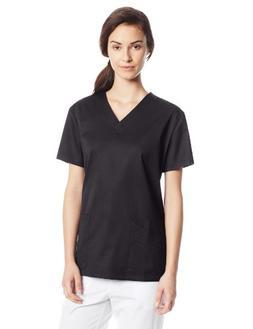 Cherokee Women's Scrubs Luxe V-Neck Top, Black, XX-Large