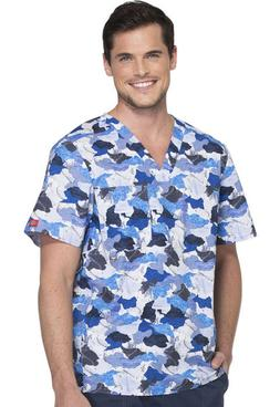 Scrubs Dickies Men V-Neck Scrub Top 81720 SOSE Set In Stone