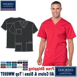 Cherokee Scrubs PROFESSIONAL Men's Medical Uniform V-Neck To