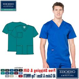 Cherokee Scrubs REVOLUTION Medical Uniform Men's V-Neck Top