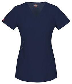 Dickies Scrubs Short Sleeve Top 85956 NVYZ D-Navy Free Shipp