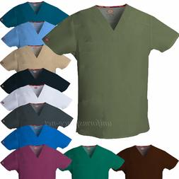 Dickies Scrubs Top Mens EDS V-neck Shirts Multi Pockets 8190