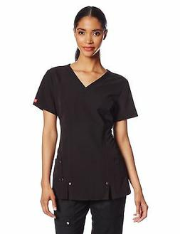 Dickies Scrubs Women's Xtreme Stretch Junior Fit V-Neck Shir