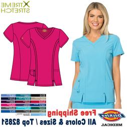 Dickies Scrubs XTREME STRETCH Medical Uniform V Neck Shirt T