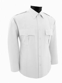 Security guard Police white polyester uniform  shirt Long Sl