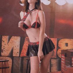 Sexy Women Japanese Students Uniform Costume Lingerie Set Br