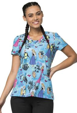 Sleeping Beauty Cherokee Scrubs Tooniforms Disney V Neck Top