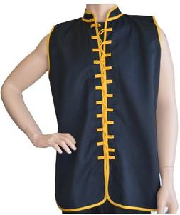 Sleeveless Uniform Top Black w/Gold-Adult Large