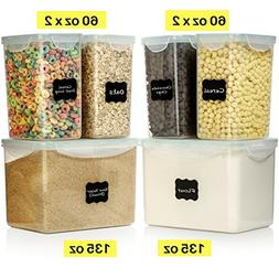 LARGE SIZE Food Storage Containers - Sugar, Flour Plastic Co