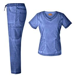 stretch nursing medical uniform set
