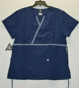 Cherokee Studio Women's Uniform Scrubs Top Navy 3871 S M L X