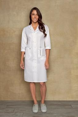 Dickies Style 84503 Button Front WHITE Nurse's Uniform Dress