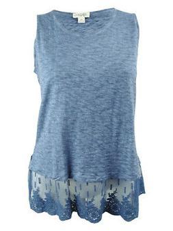 Style & Co. Women's Plus Size Sheer-Hem Sleeveless Top