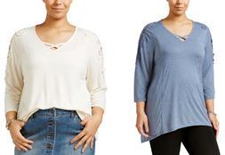 Style & Co. Women's Plus Size Crocheted Bridge-Hem Top - Sel