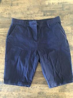 The Children's Place Navy Blue Uniform Shorts size 14