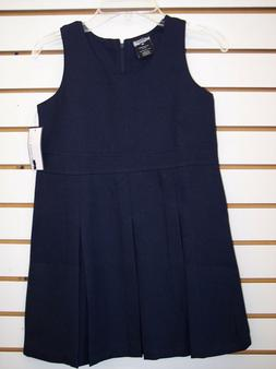 Toddler & Girls Navy or Khaki High Waist Uniform Jumper Dres
