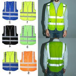 Traffic Safety Waistcoats Reflective Vest Uniform & Work Clo