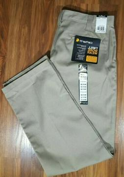 Carhartt Twill Work Wear Mens Pants Khaki B290 36x32 Relaxed
