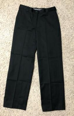 Barco Uniform Men's Black Flat Front Work Pants Size 32x30