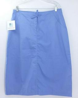 Adar Uniforms Blue, Drawstring, Front Zipper Closure Skirt.