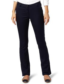 Lee Uniforms Juniors Curvey Straight Leg Pant, Navy, 5