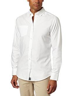 Lee Uniforms Men's Long Sleeve Oxford Shirt, Light Blue, Lar