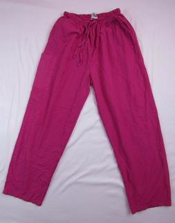 JUST LOVE UNIFORMS Pink Nursing Medical Scrub Pants Size XL