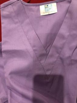 Adar Uniforms Set Of Nursing Scrubs: Lavender Color Sz S, Ne