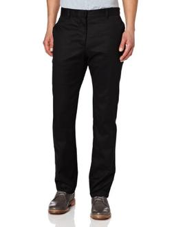 Lee Uniforms Men's Slim Straight Core Pant, Black, 34Wx32L