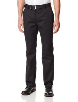 Lee Uniforms Men's Straight Leg College Pant, Black, 33Wx32L