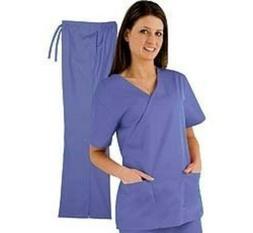 Uniforms Women's Mock Wrap Scrub Set Top Quality  size