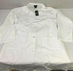 Natural Uniforms Unisex 40 inch White Lab Coat Large