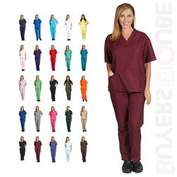 New Unisex Men/Women Uniform Scrub Set Medical Hospital Nurs